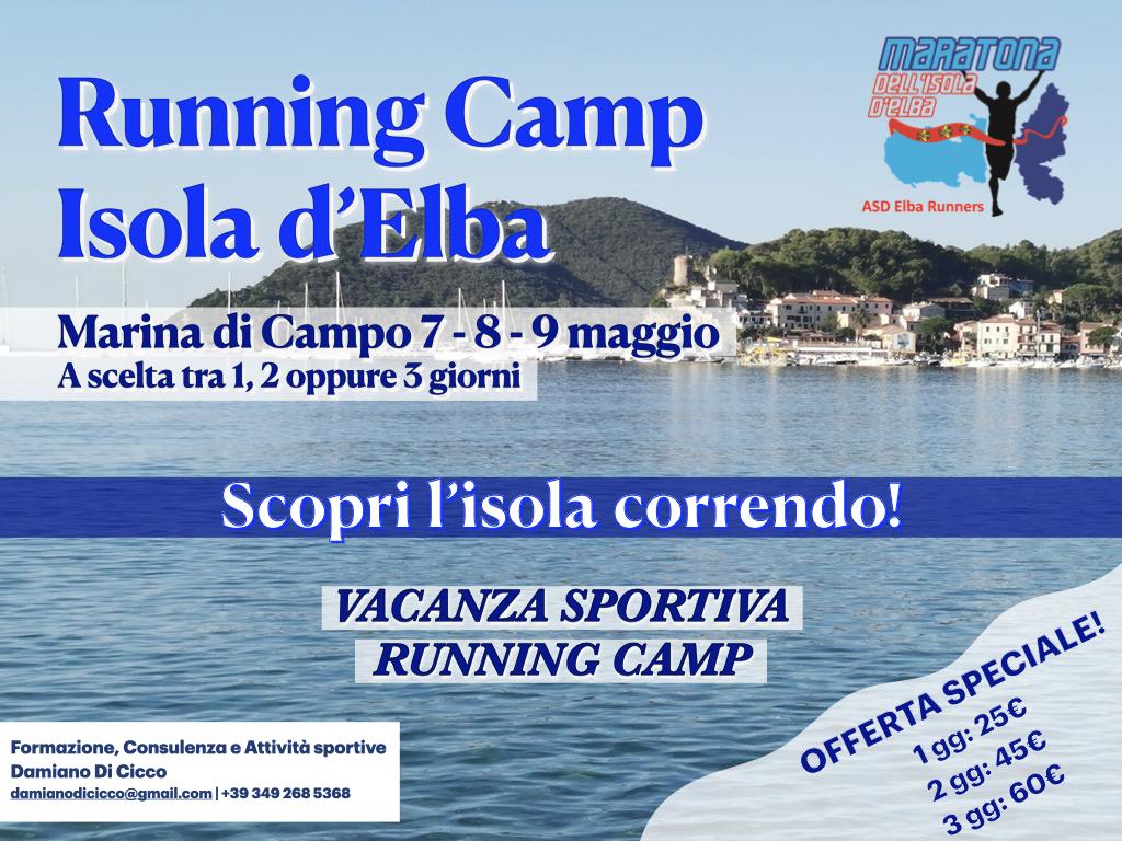 Running camp marina di campo Isola d'Elba 7-8-9 maggio 2021